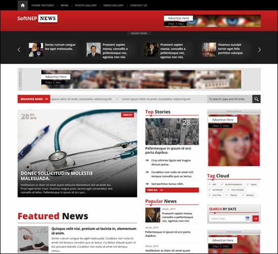 Free Responsive WordPress Themes,