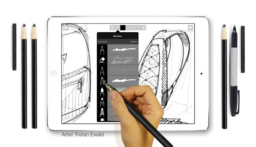 Sketch App 'designware' is a set of essential pens, pencils and color palettes