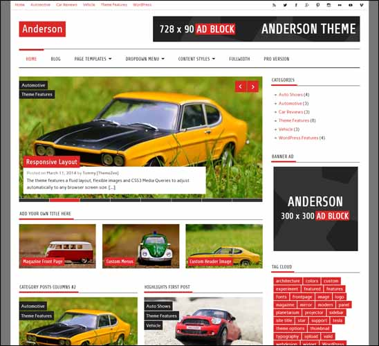 anderson-lite-free-wordpress-theme, Free Responsive WordPress Themes,