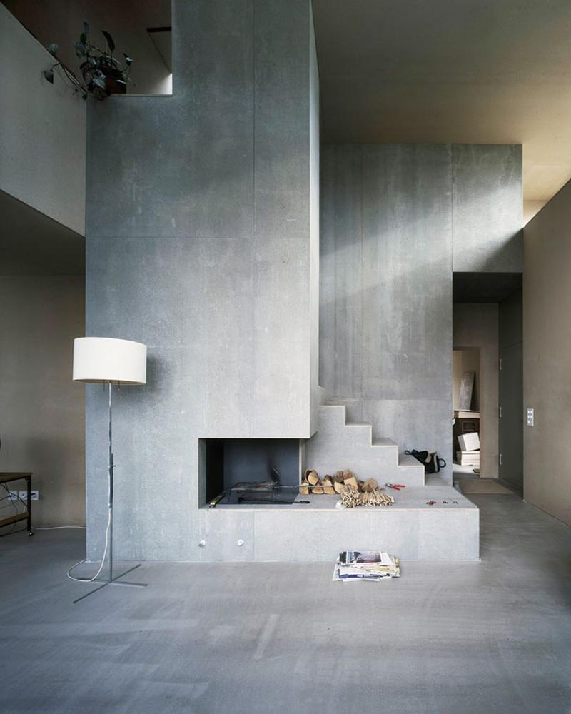 Explore living room ideas with concrete wall interior design - Picture wall ideas for living room ...