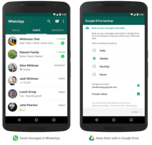 WhatsApp backup on Google Drive,