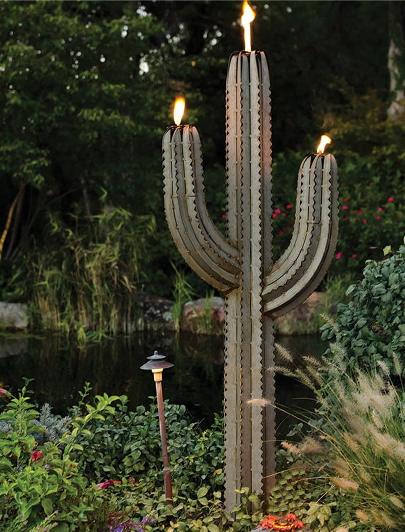Saguaro Cactus with Three Torches
