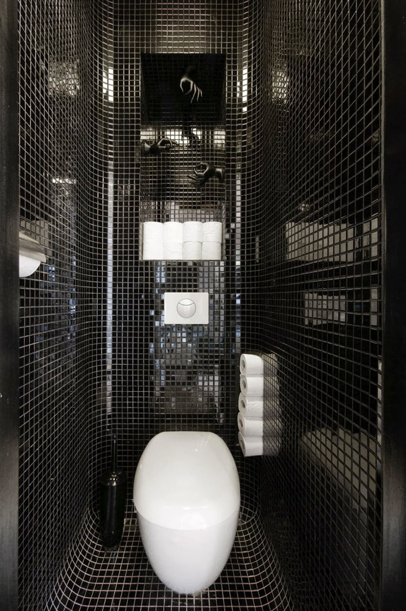 Black And White Bathroom Is