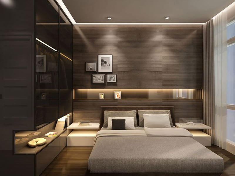 contemporary wengey tough in bedroom decoration design