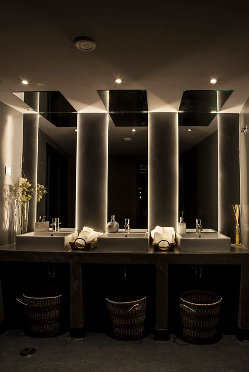 vanity with lights alcove lighting ideas