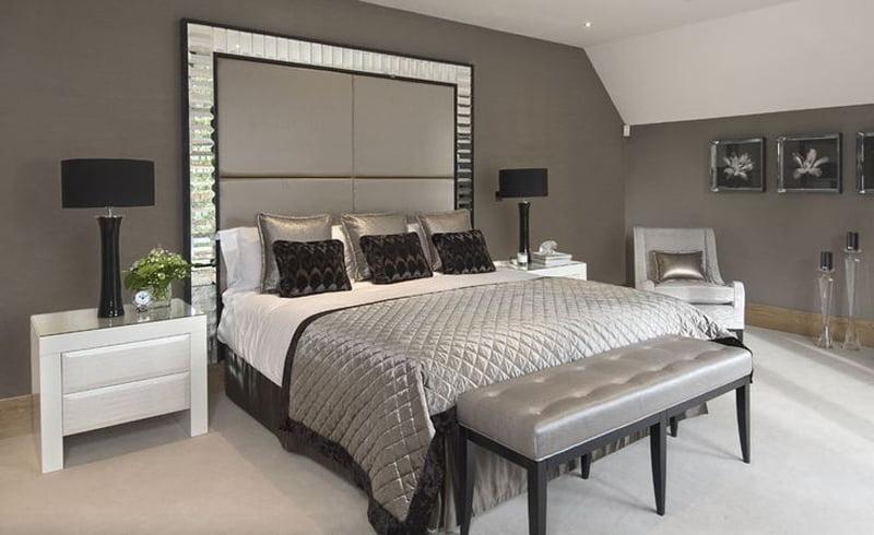 monocromatic bedroom decoration idea