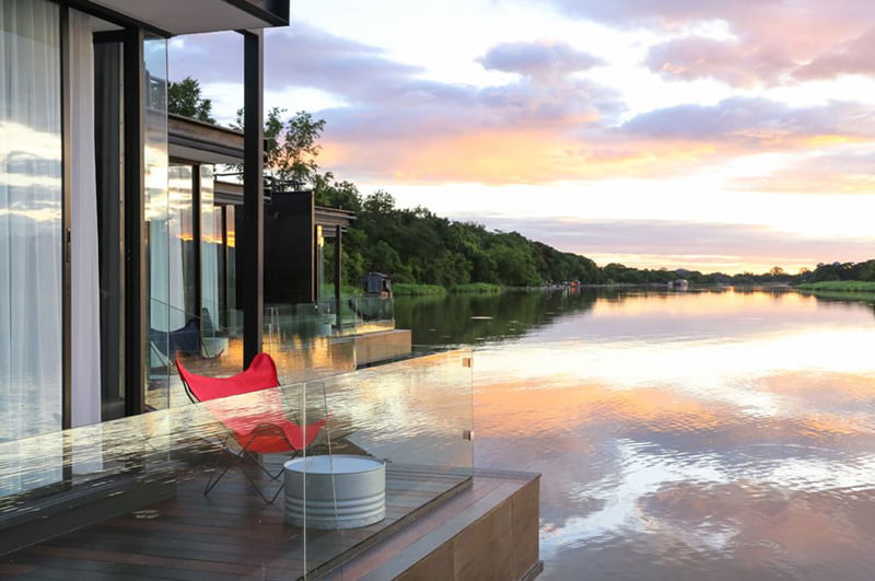 Floating Holiday Homes deck of River Kwai Thailand (2)