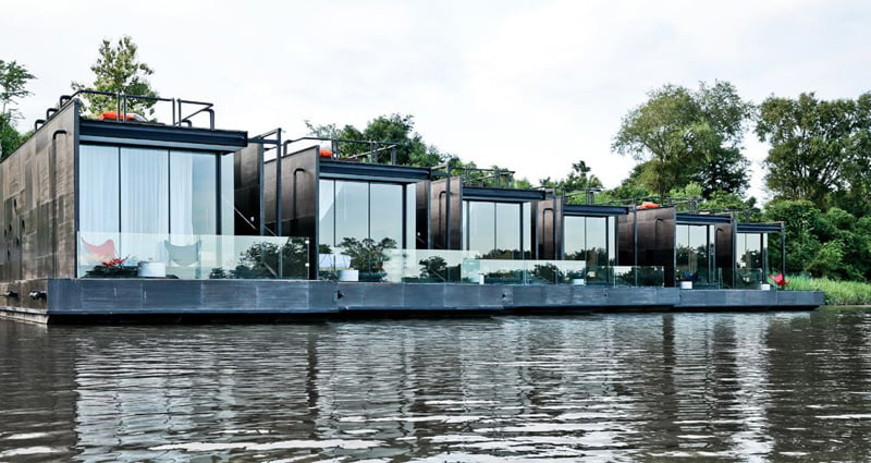 floating house of river kwai holiday homes in thailand