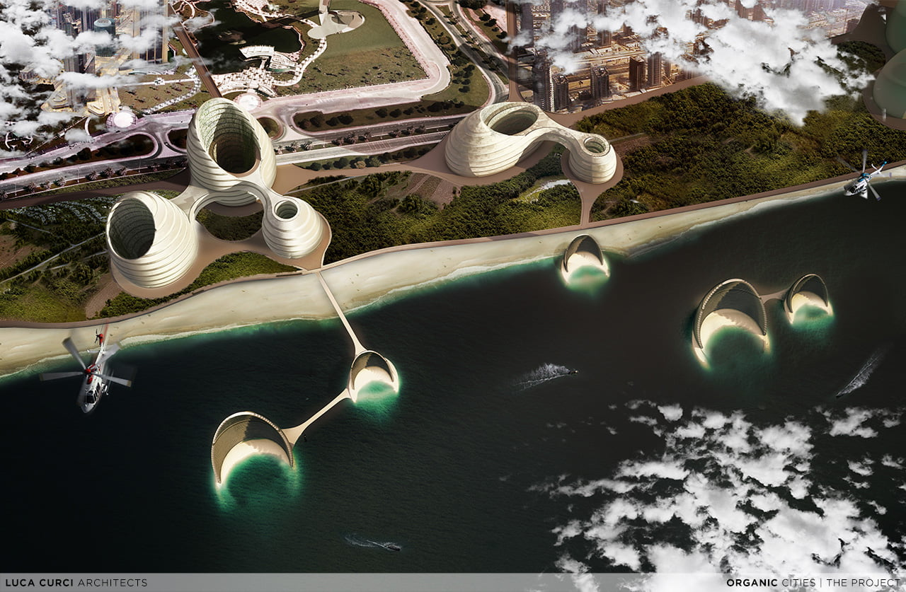 Organic Cities for Persian Gulf Skyline by Luca Curci Architects Studio