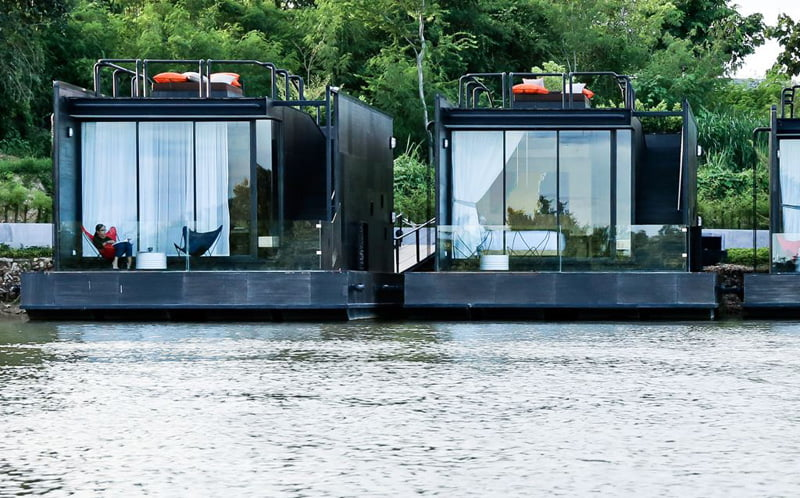 modern Floating Holiday Homes of River Kwai Thailand (1)