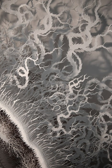 Laser Cut Paper Art Nature Inspired Magic Circle By Artist Rogan Brown (4)
