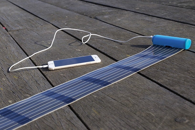 Portable Solar Panels Heli On Mobile Battery Charger By