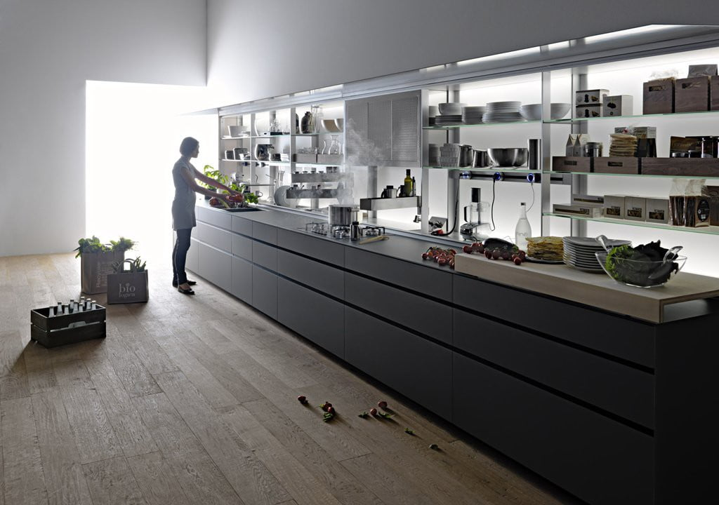 Valcucine - Kitchen Cabinets Design By New Logica System-verde_lucido- (4)