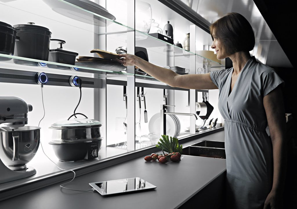 Valcucine - Kitchen Cabinets Design By New Logica System-verde_lucido- (6)