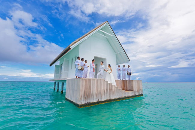 Destination Wedding Afloat Beach Venues In Maldives