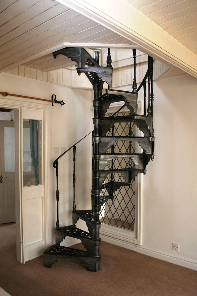Best spiral staircase examples for igniting house interior design