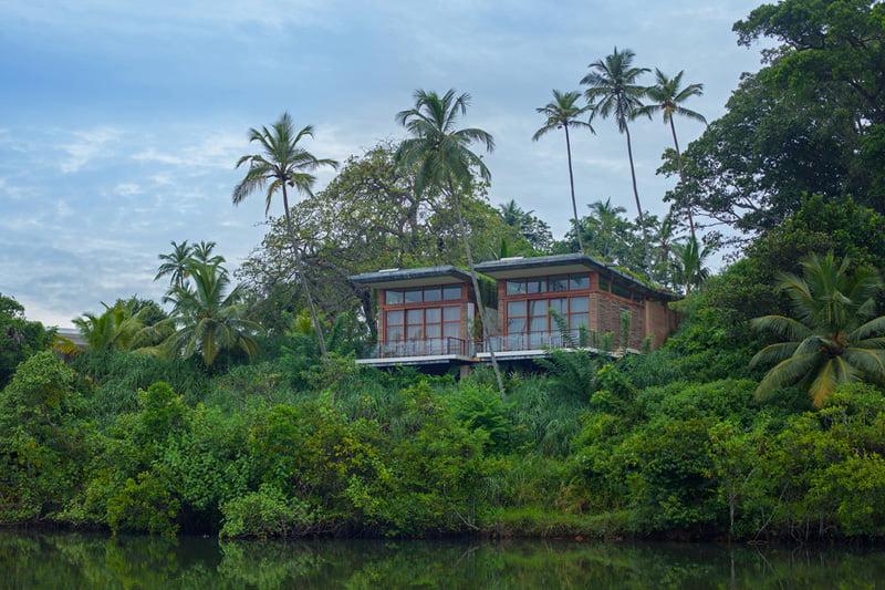 design of Island Resort on the Middle of Koggala Lake in Sri Lanka
