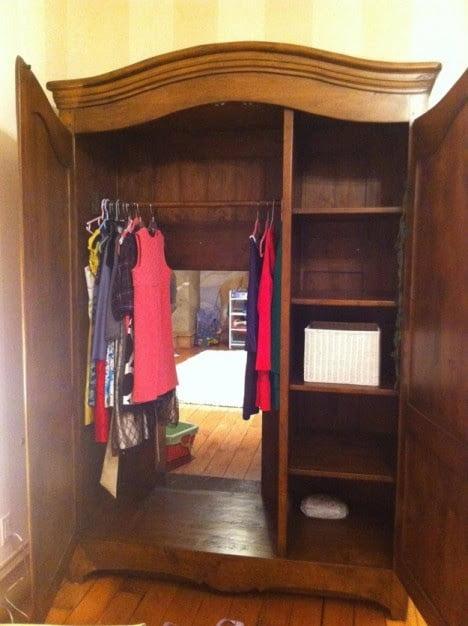 Hidden Bookshelf Door of Secrete Playroom Behind Wardrobe 2