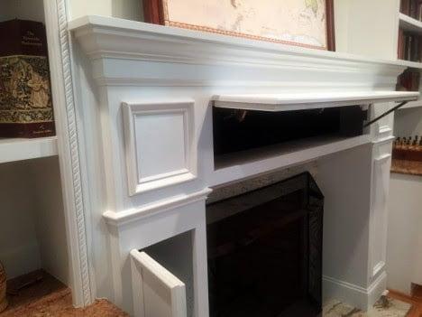 Hidden Door of Storage with Fireplace