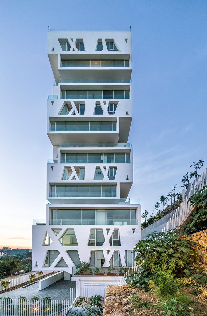 Residential Tower Elevation with the cube Stacked Box By Orange Architects in Beirut, Lebanon (3)