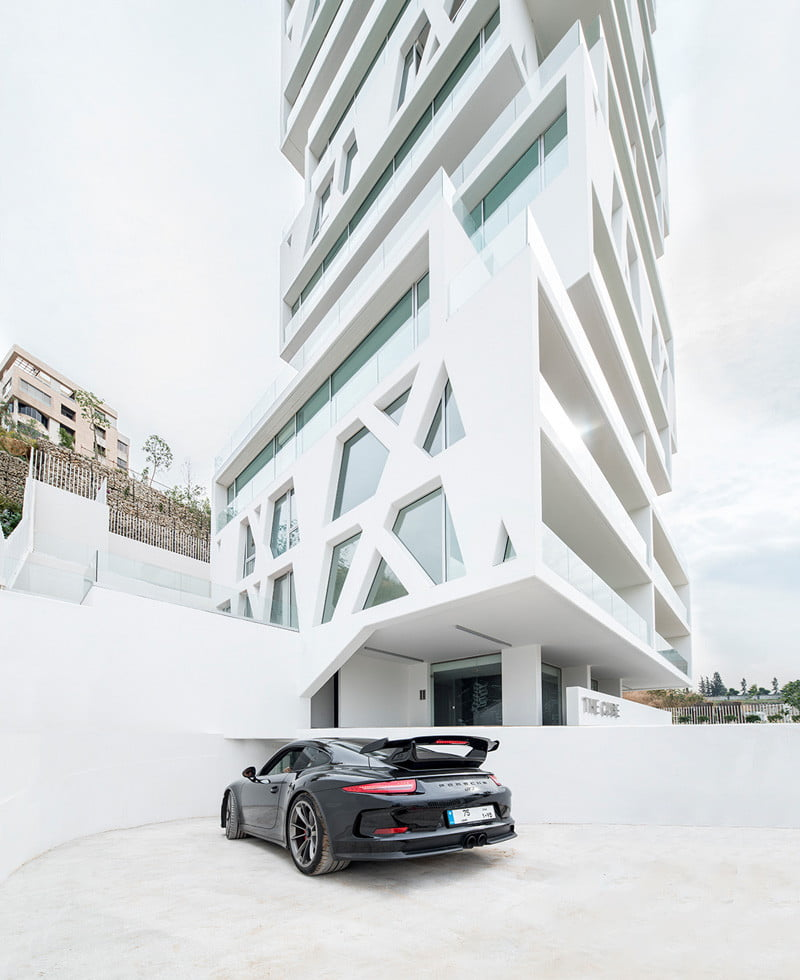 Residential Tower Elevation with the cube Stacked Box By Orange Architects in Beirut, Lebanon (5)