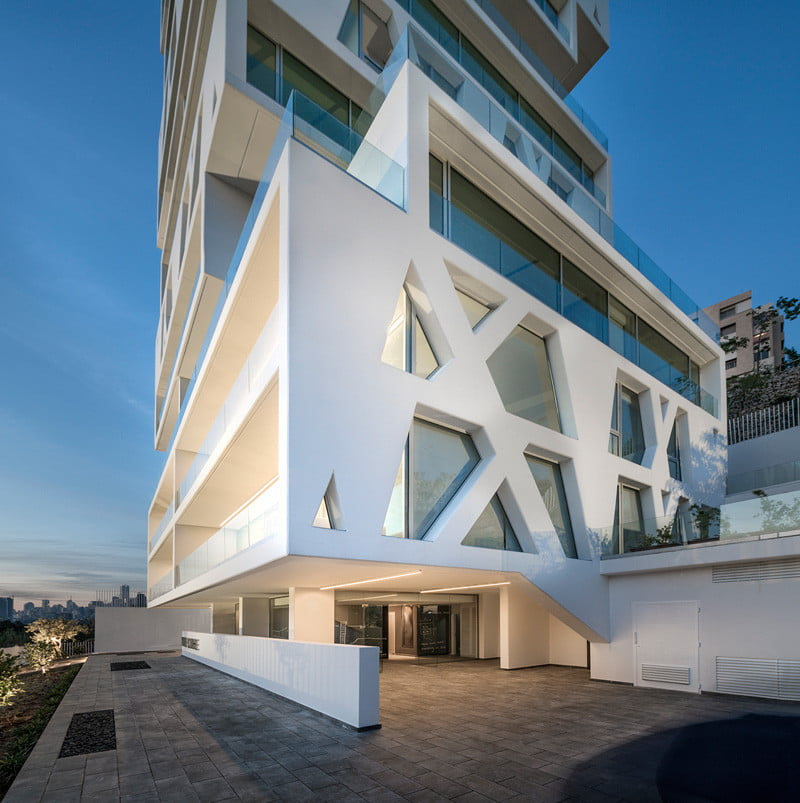 Residential Tower Elevation with the cube Stacked Box By Orange Architects in Beirut, Lebanon (6)