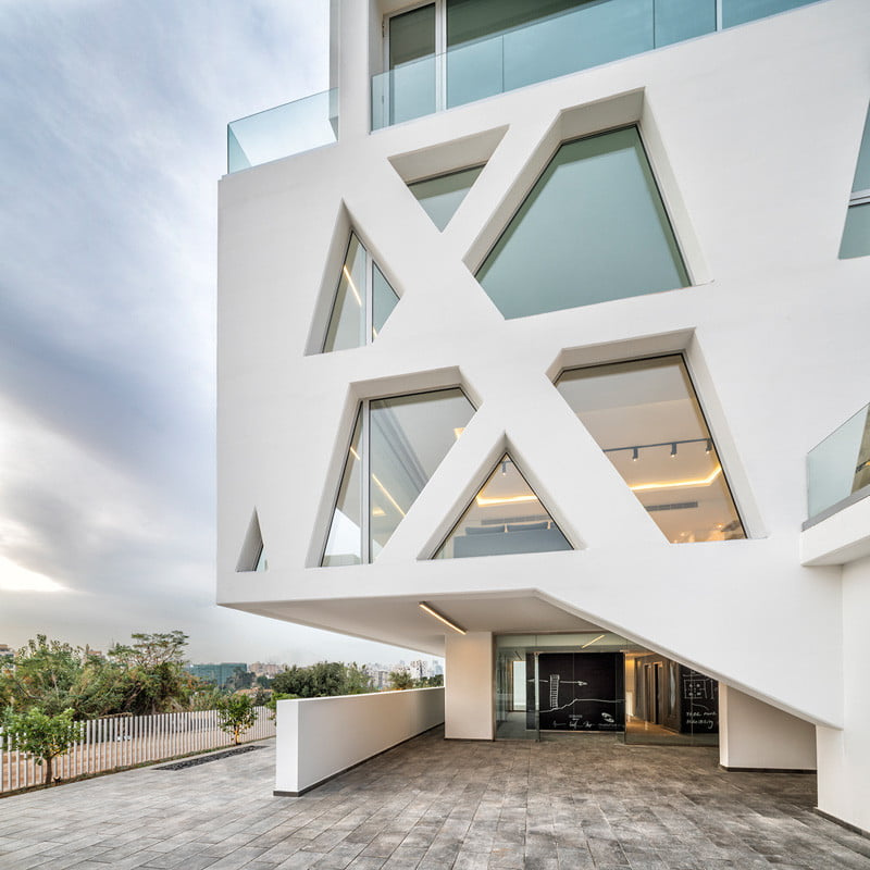 Residential Tower Elevation with the cube Stacked Box By Orange Architects in Beirut, Lebanon (7)