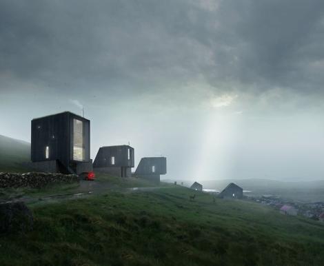 hillside housing development,