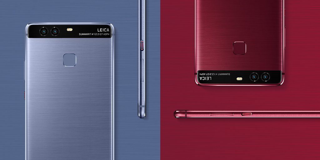 Huawei P9 & P9 Plus now Available in Red & Blue Colors