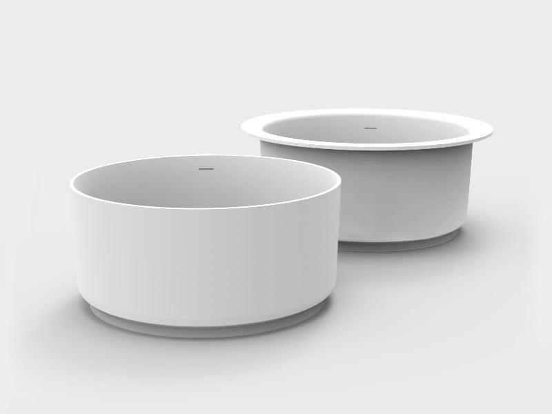 In-Out bathtub design