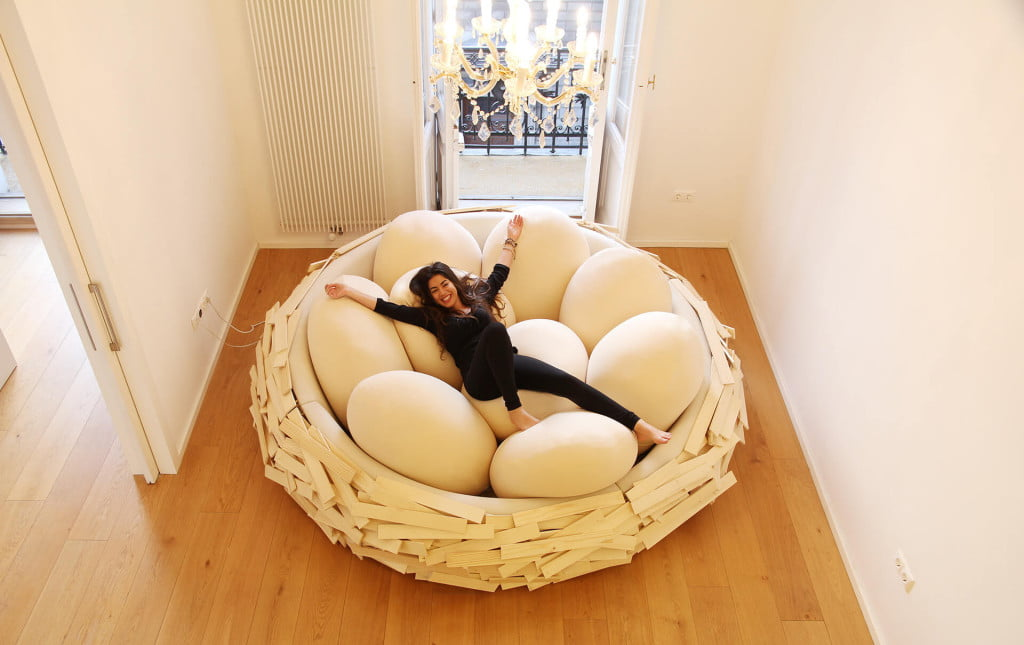 Design Idea view in gallery gorgeous creative staircase design idea Creative Bed Design Giant Birdsnest