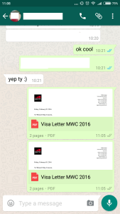 WhatsApp APK that allows you to send and receive documents,