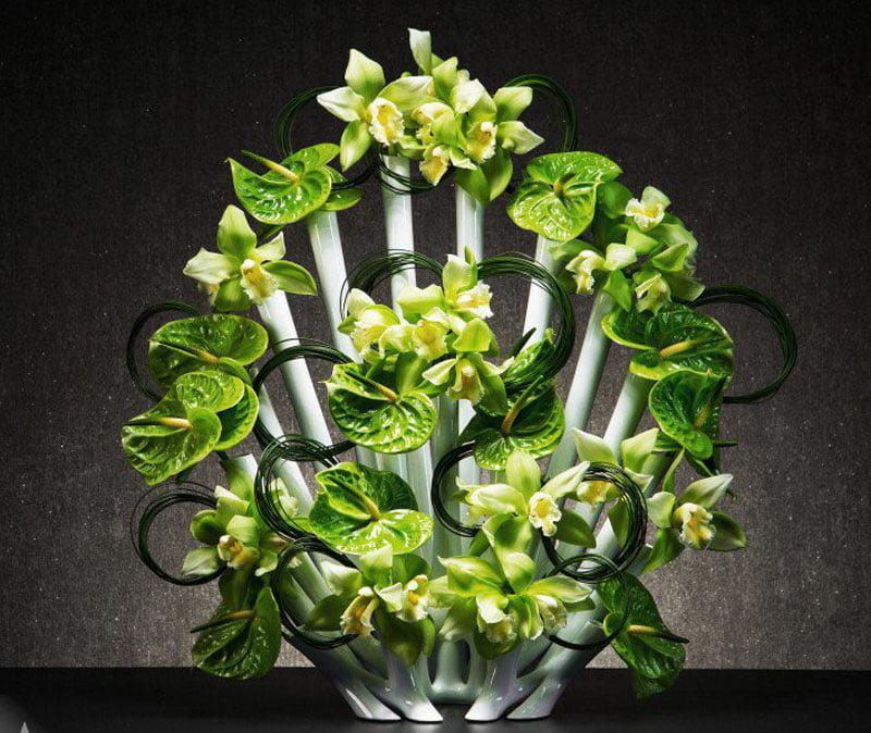 Peacock Vase Flower Vase by Steve Lee