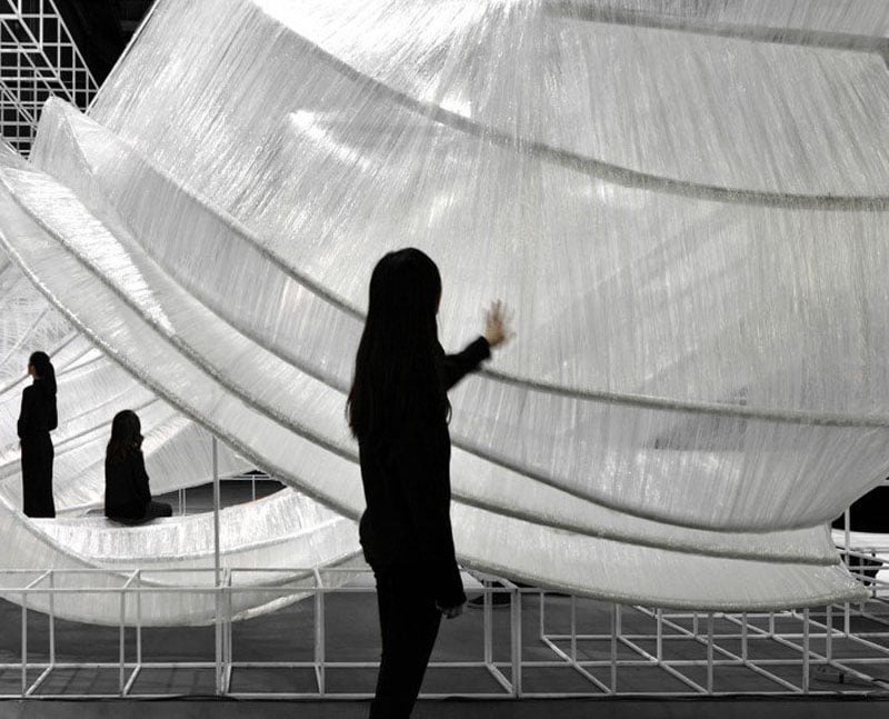 Pone Transparent Shell Exhibition Space by Pone Architecture