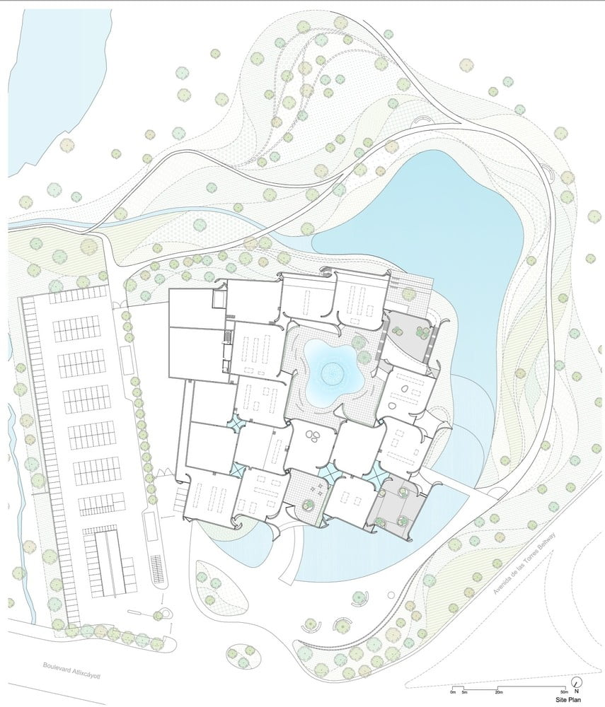 Site_Plan of Intl. Baroque Art Museum Architecture by Toyo Ito in Mexico