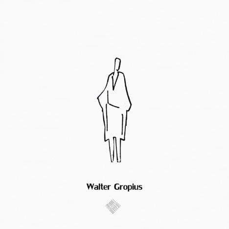 Walter Gropius's Style to draw Human scale