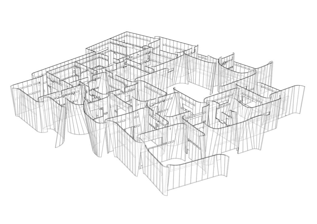 concept diagrame of Intl. Baroque Art Museum Architecture by Toyo Ito in Mexico