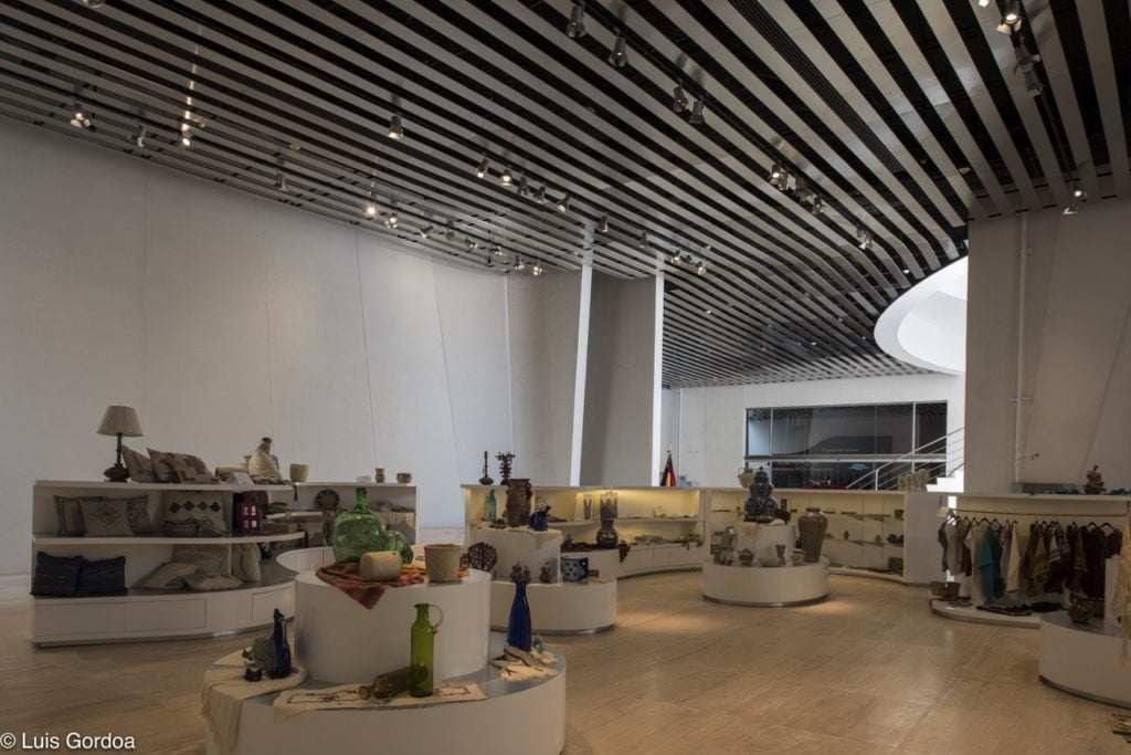 main hall of Intl. Baroque Art Museum Architecture by Toyo Ito in Mexico