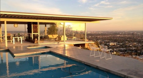 mid century architecture of Stahl House, Los Angeles