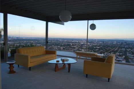 mid century sofa chair design for Stahl House, Los Angeles