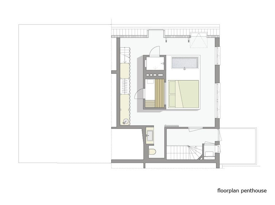 penthouse bedroom design plan