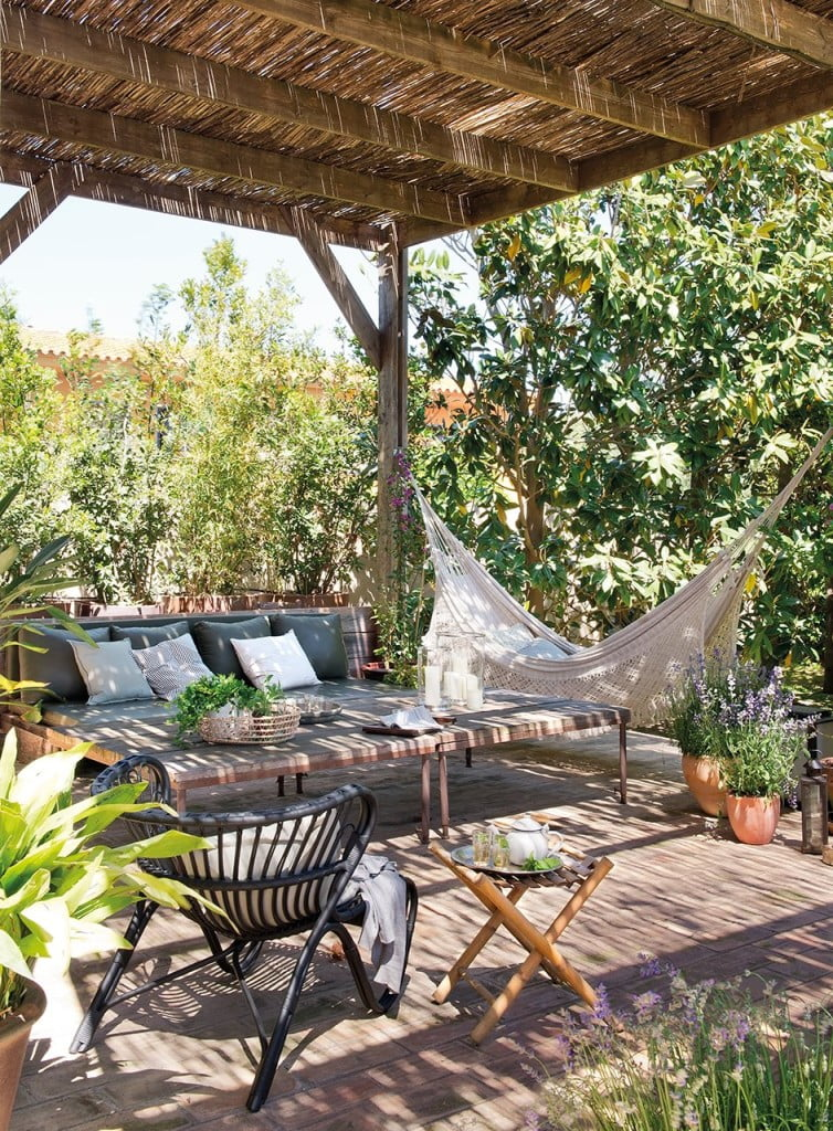 pergola pictures with hammock