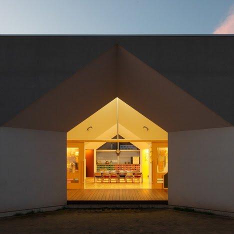 Soichi Yamasaki's Japanese nursery, nursery school building,