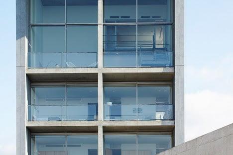 hotel elevation in minimalist architecture