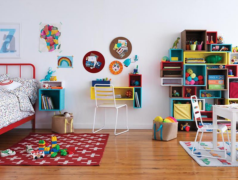 indoor outdoor rugs for kids bed in bold colors