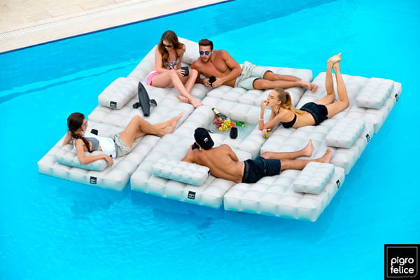 inflatable couch for swimming pool
