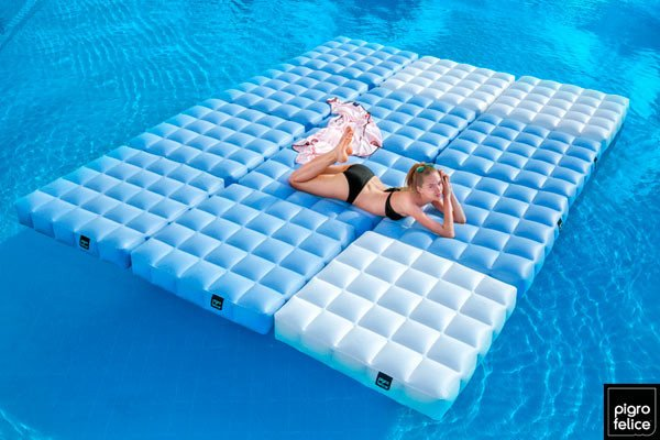 Modular Inflatable Furniture For Outdoor And Poolside Leisure