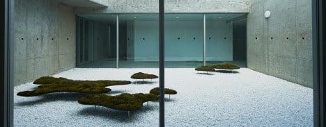 minimalist homes courtyard