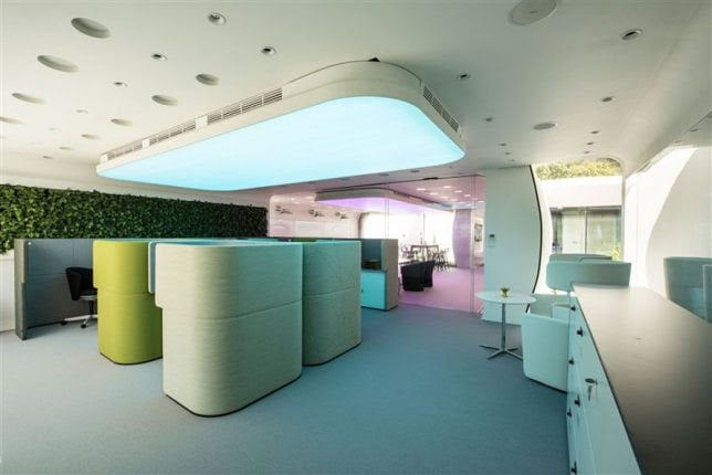 office interior of 3d printed building in dubai
