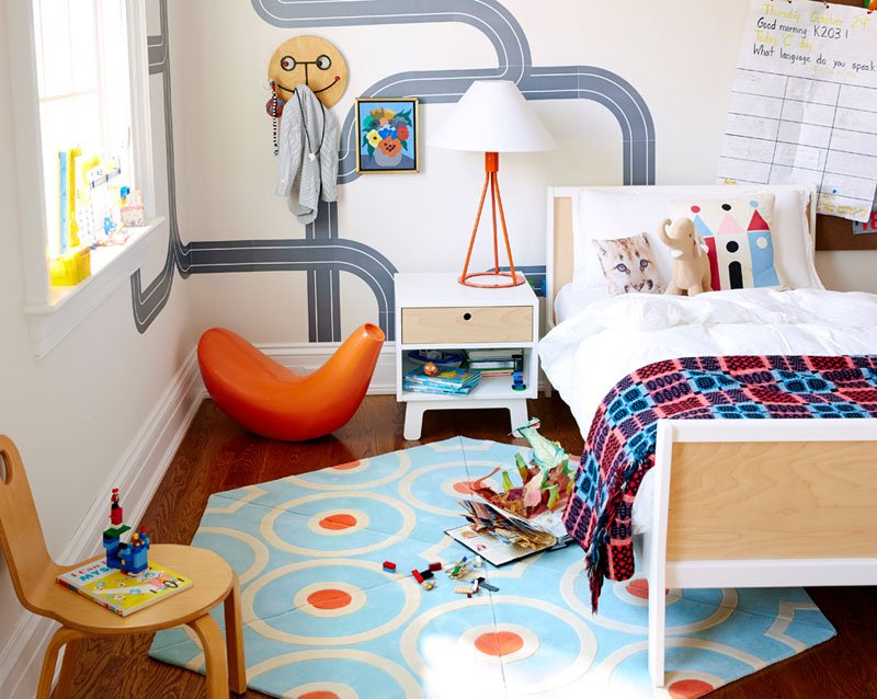 round area rugs for kids room to create playful space kadva. Black Bedroom Furniture Sets. Home Design Ideas